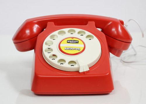 אם כבר לחכות לטלפון מהדייט,  אז רק לכזה. טלפון וינטג' אדום של FIBERS