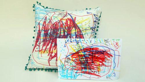 לחבק כל ציור. כרית בעיצוב אישי מציורי הילדים ומכל יצירה, Irregular Trend