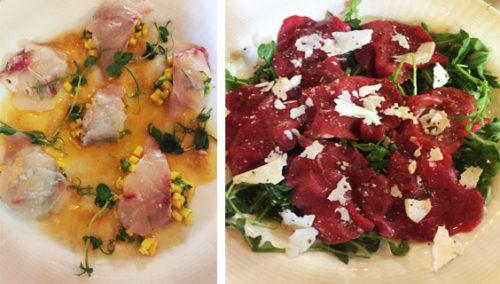 """דרבי קרפצ'יוז. האדומים: בקר, אורוגולה וצפתית """"קדוש""""; הצהובים: דג ים, מנגו ואמרטו"""