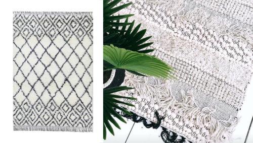 """שאגי בייבי, גרובי. שטיח שאגי מ""""עד עיצובים""""; משמאל: המרוקאי של """"השטיח האדום"""""""