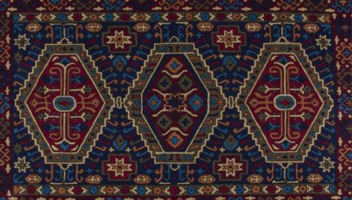 """ירושה לדורות. שטיח קשמיר בעבודת יד, """"אשת האספן"""""""