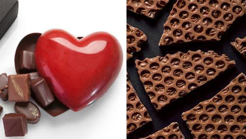 הכל, תודה. מימין:כוורת שוקולד (צילום:אנטולי קרניצקי); מארז לב אכיל (צילום: שירן כרמל)