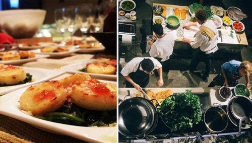 ערב עם ברק. המטבח הפתוח; ניוקי סולת, תרד ועסיס עגבניה; BOREK