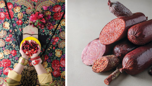 להתקרב כדי לדעת. מימין: ציור של עופרה אייל; משמאל: עבודה של ננה שרייר