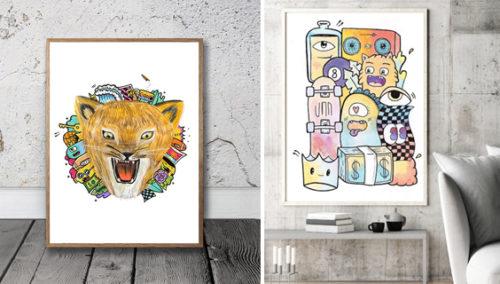 זה הכפיר - אריה יהיה. עבודותיו מתוך תערוכת בני נוער בבצלאל