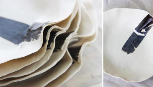 אין שניים זהים. צלחות פס של דיאנה דבש, Boutique Ceramics