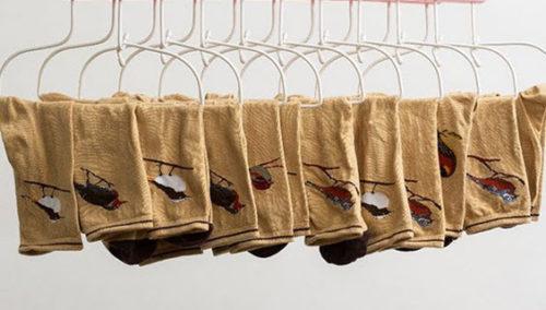 גרביים נודדים, לא בודדים. UNPAIR, סדרת הציפורים (צילום: מיכאל טופיול)