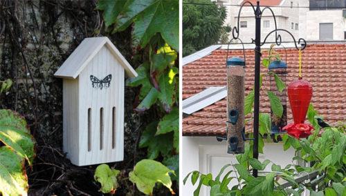 """אייר בי.אנ.בי. בית פרפרים ומתקני האכלה תלויים באוויר, """"כן לציפור"""""""