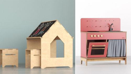 לשחק בקטנה, לחלום בגדול. מטבח ופינת יצירה על פי הדמייה ועיצוב מקורי של רן אבקסיס