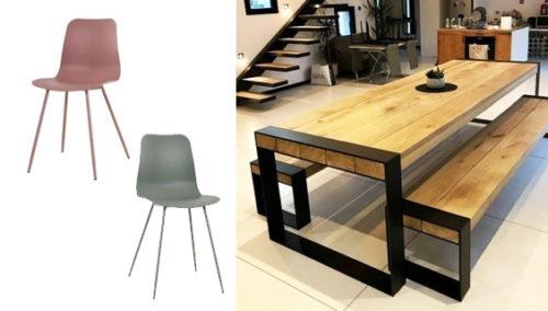 """מראים אהבה חזרה לבית. #7 שולחן וספסלי ישיבה, """"אס&אס""""; #8כסאות בצבעים שונים, WishListIL; >>עוד רהיטים יפים מהסייל ממש כאן"""