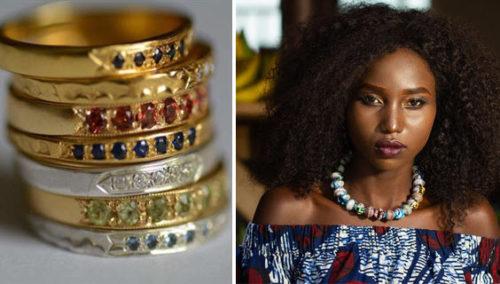 """כי מגיע לי, זה למה. #17 שרשרת חרוזים ובד, """"מירמבה""""; #18טבעת משובצות של אפרת מקוב; >>עוד תכשיטים בעבודת יד מקורית ונוצצת ובהנחה שתאהבו"""