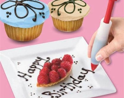 עט לקישוט עוגות ומאפים עשוי סיליקון גמיש