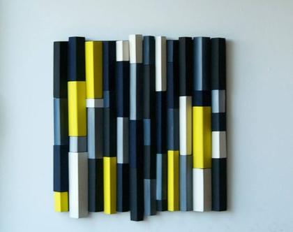 תמונה צבעונית | עיצוב צבעוני לבית | אמנות מקורית | פסיפס עץ |