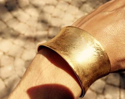 צמיד ציפוי זהב - 24 קארט זהב טהור