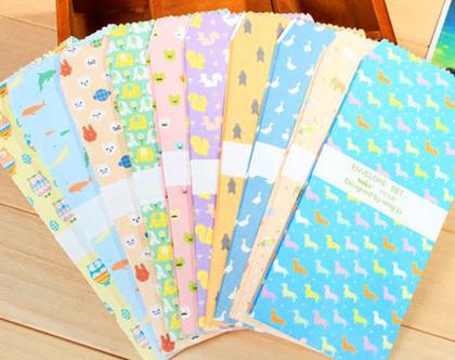 סט 10 מעטפות - פטרנים משמחים