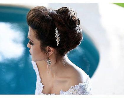 מסרקיה לשיער, מסרקית לכלה, תכשיט שיער לכלות, תכשיט שיער סברובסקי, מסרקה לשיער, אביזר שיער לכלה, תכשיטים לחתונה