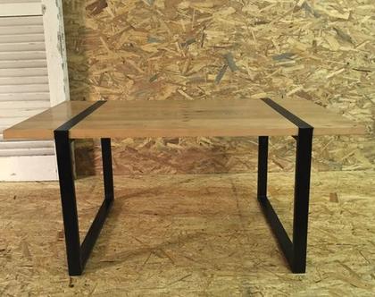 שולחן סלון עץ ומתכת (6)