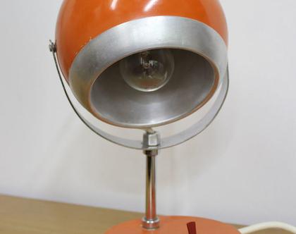 מנורת שולחן וינטאג׳ כתומה