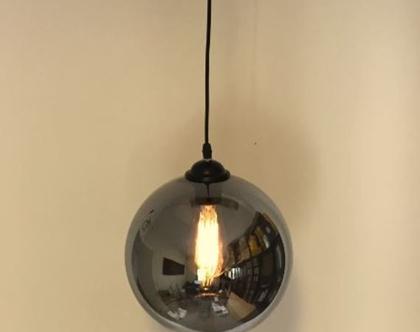 מנורת תקרה כדור זכוכית מראה (מס 16)