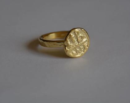 טבעת מטבע זהב, טבעת מיוחדת, טבעת עם מטבע, טבעת מטבע, טבעת בסגנון עתיק, טבעת ליום יום, טבעת מטבע עתיק, טבעת מעוצבת, טבעת עדינה, טבעת זהב