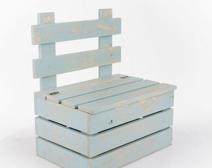 ספסל אחסון עם משענת