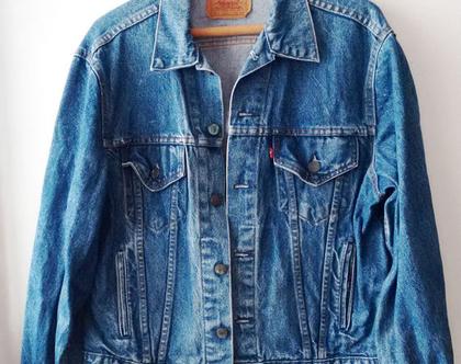 נמכר* ז'קט ג'ינס ליוויס | ז'קט ליוויס | LEVIS | ז'קטים ג'ינס | ז'קט וינטג' תווית אדומה