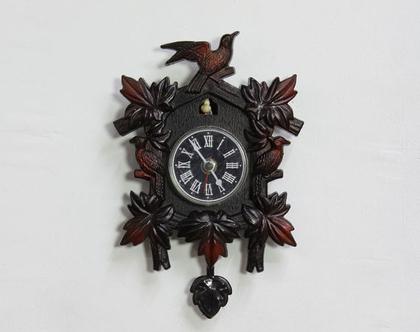 שעון קיר וינטאג׳ דמוי שעון קוקיה