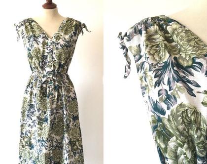 ❤️ נמכרה ❤️שמלת וינטג׳ |שמלת מידי |שמלת כותנה |שמלה לבנה עם שושנים| שמלה מיוחדת | שמלה קיצית|שמלה לנשים | שמלה מחמיאה