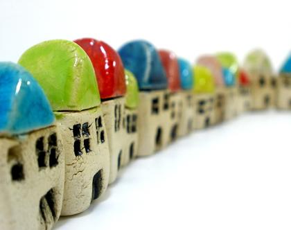 בתים מיניאטורים מקרמיקה | גינה מיניאטורית | עיצוב לבית | חנוכת בית | הום סטיילינג