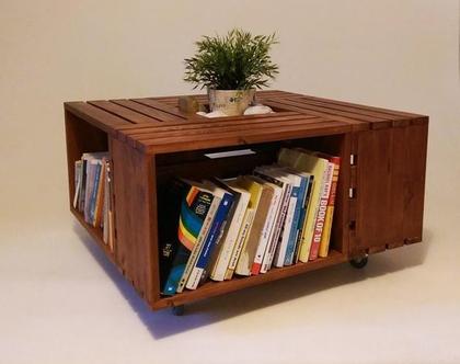 שולחן סלון מעוצב מארגזים- דגם ״אנדריאה״ גוון 40