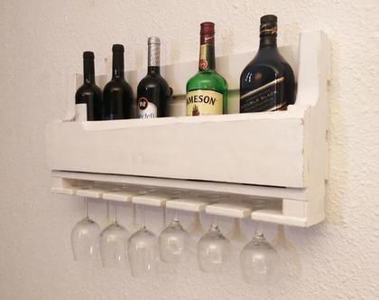 בר יין מעוצב ממשטח- עץ ממוחזר-דגם ״ענבל״
