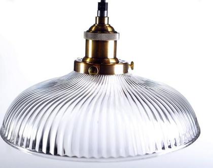 מנורה שטוחה פסים בשילוב ברונזה 802