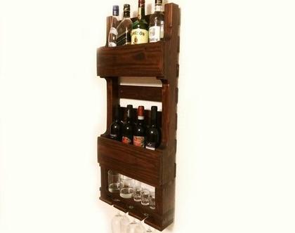בר אלכוהול דגם ״ורד פלוס״-מעוצב ממשטח-עץ ממוחזר גוון 60