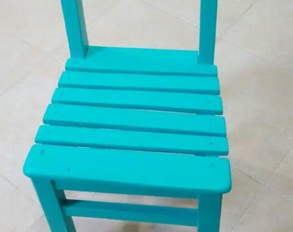 כסא ילדים עם ציור נמר