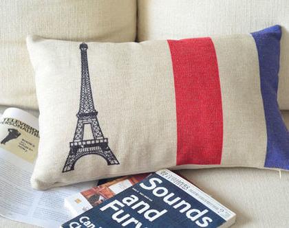 כרית נוי פריז-צרפת איכותית 30X50 - כותנה