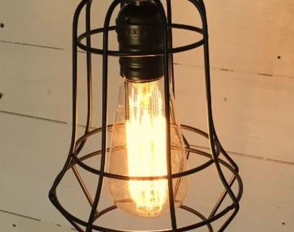 מנורת כלוב שחור קלאסי (מס 56 )