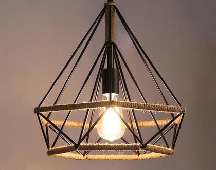 מנורת כלוב תלויה ROPE