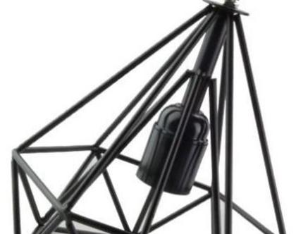 מנורה תלויה כלוב שחור יהלום (71)