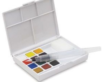 צבעי מים | 12 צבעים | צבעים מיוחדים | סט צבעים | צבעים יפניים
