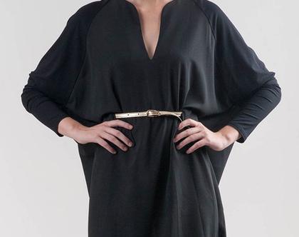 שמלת גלוריה שרוול ארוך מסריג