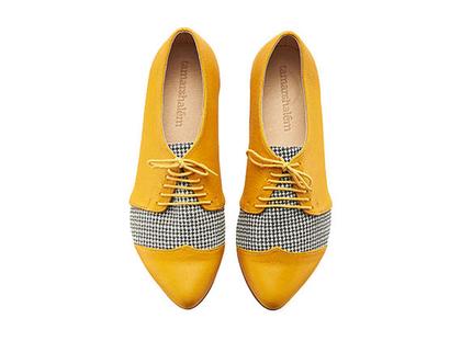 נעלי אוקספורד - פולי ג'ין צהוב פיפיטה