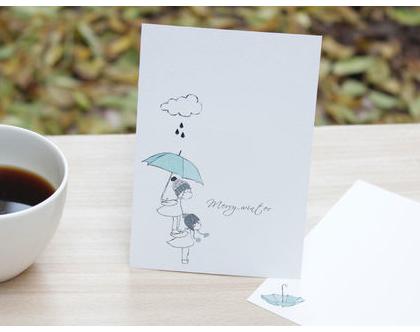 """מארז 5 גלויות - """"Merry winter"""""""