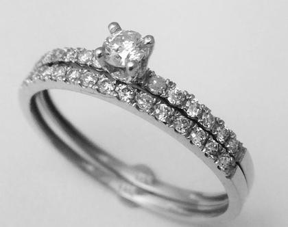 טבעת 0.40 קראט | טבעת אירוסין | טבעת זהב | טבעת יהלומים צמודים | יהלום | משובצת יהלום | טבעת יוקרתית | טבעת מעוצבת | טבעת מיוחדת