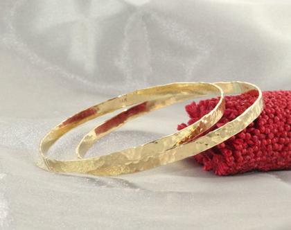 סט צמידים זהב 21k | צמיד רקוע עדין | צמיד מיוחד | צמיד מרוקאי | צמיד זהב | צמיד זהב מרוקאי | 21 קראט | צמיד עדין | צמיד זהב לחינה