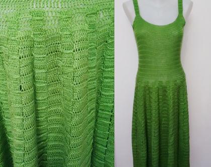 שמלת סיקסטיז ירוקה 40% הנחה | שמלות וינטג' | שמלה סרוגה | שמלות וינטג' מיוחדות | שמלה מעוצבת