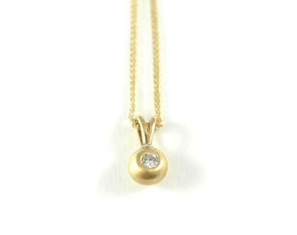 שרשרת זהב   שרשרת עם תליון משובץ   תליון כדור   שרשרת ותליון יהלומים   תכשיטי מעצבים   אורה דן תכשיטים   תכשיטים בתל אביב  