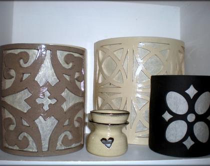 גופי תאורה מקרמיקה | תאורת קיר | תאורה לבית | תאורה מעוצבת | מנורה מקרמיקה | מנורת קיר | אהילים מעוצבים