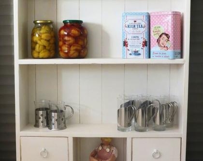 ארונית מדפים תלויה למטבח, ארונית מדפים תלויה לחדר רחצה, ארונית כפרית למטבח
