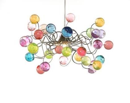 מנורת תקרה כדורים פסטל