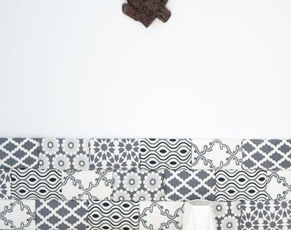 עיצוב קירות הבית , חיפוי הקיר באריחים רכים , עיצוב פינת נוי - בריקס